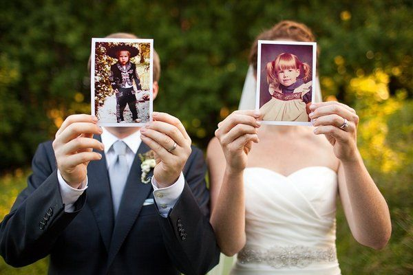 How To Have A Personalized Wedding - Childhood Photos