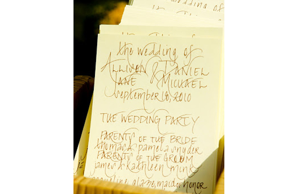 How To Have A Personalized Wedding - Handwritten Programs