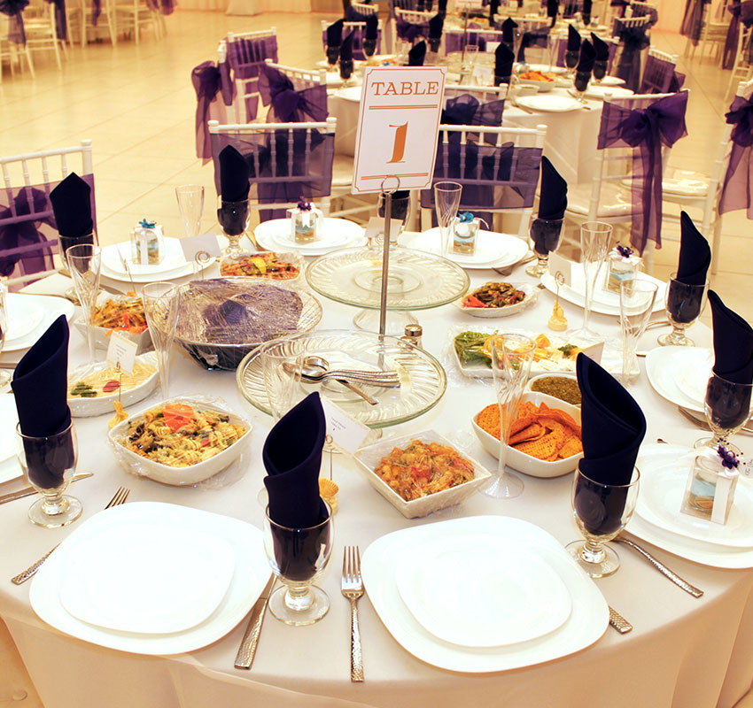 Healthy Party Food - Blush Banquet Hall Catering