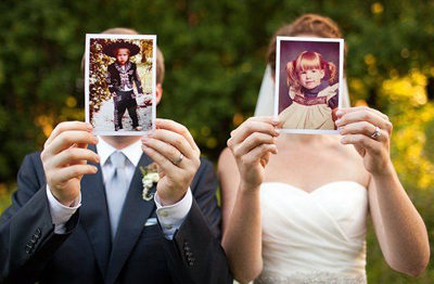 How To Have A Personalized Wedding - Childhood Photos Featured