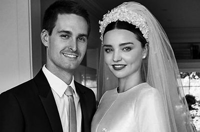 Celebrity Wedding Inspirations 2017 - Miranda Kerr Veil Featured