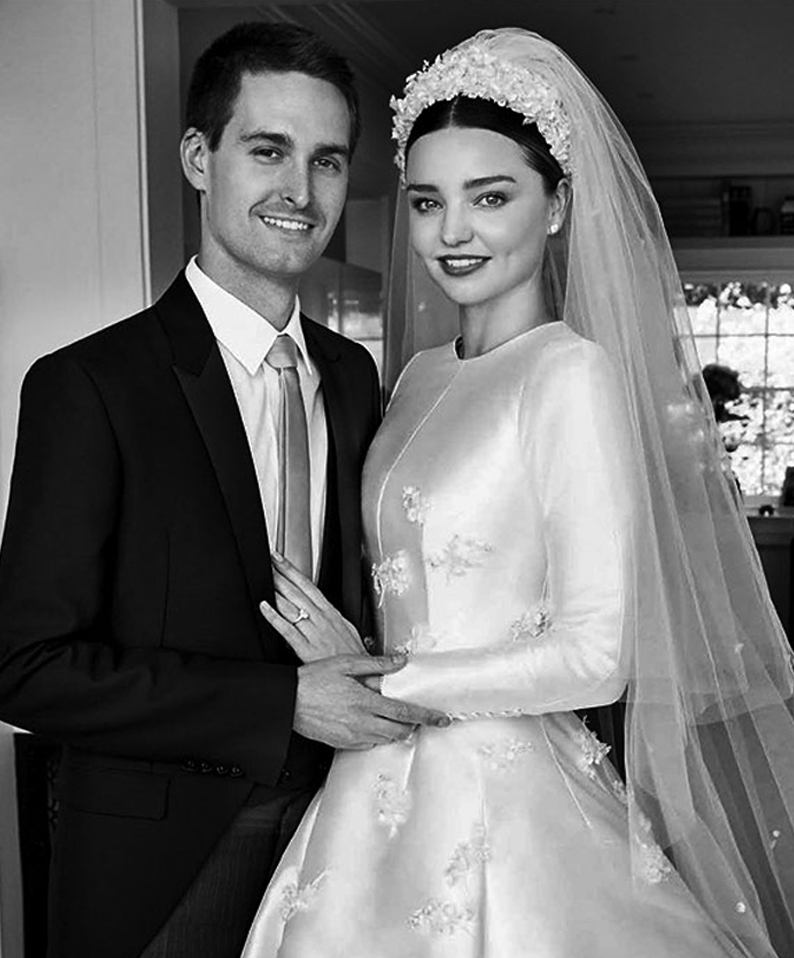 Celebrity Wedding Inspirations 2017 - Miranda Kerr Veil
