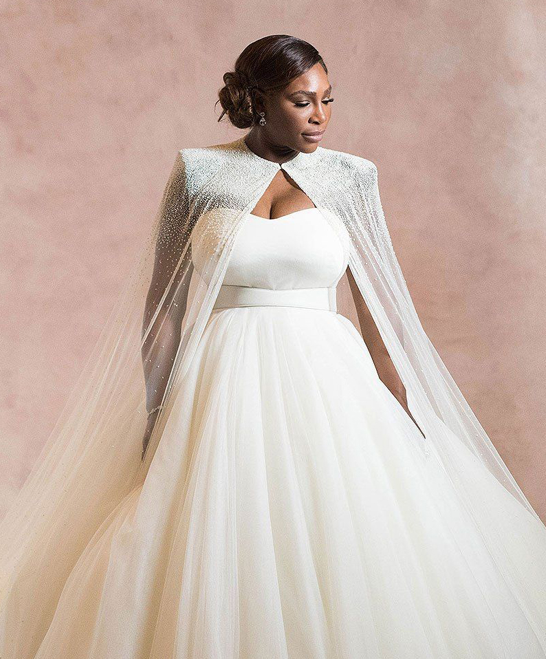 Celebrity Wedding Inspirations 2017 - Serena Williams Cape