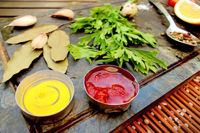 Healthy Party Food - Mediterranean food ingredients