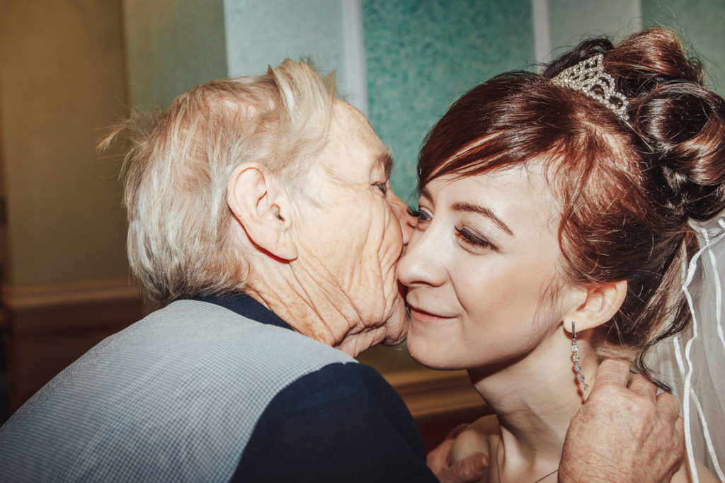 Grandma Kisses Bride