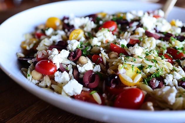 Healthy Party Food - Mediterranean Orzo Salad