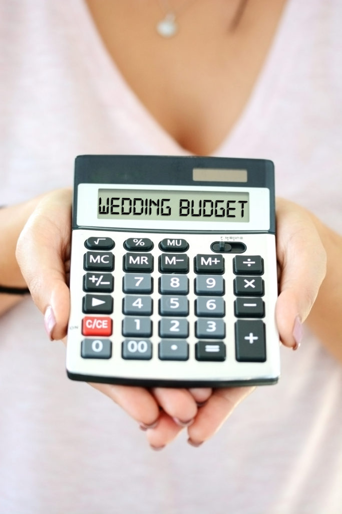 Wedding Budget Written on Calculator