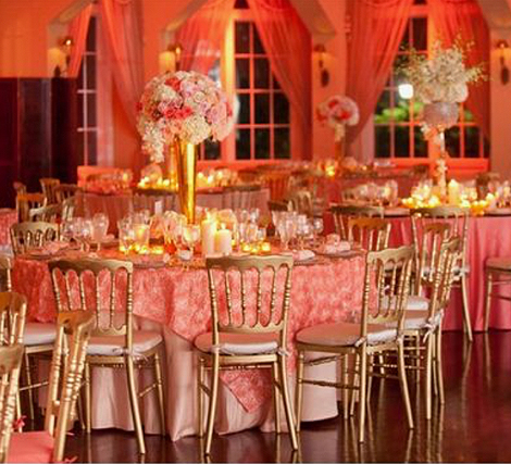 Living Coral Wedding Ideas - Ballroom