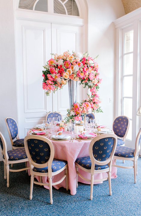 Living Coral Wedding Ideas - Whimsical Floral Centerpiece