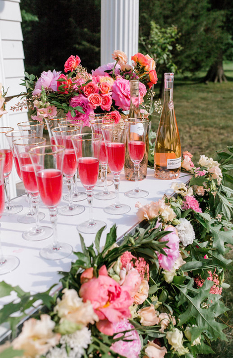 Living Coral Wedding Ideas - Brightly Colored Wedding Drinks
