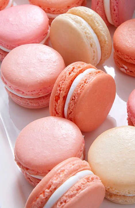 Living Coral Wedding Ideas - Pink Macarons