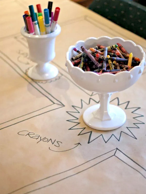 Kids Wedding Entertainment - Kids Table with Crayons