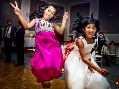 Kids Wedding Entertainment - Little Girls On Dance Floor