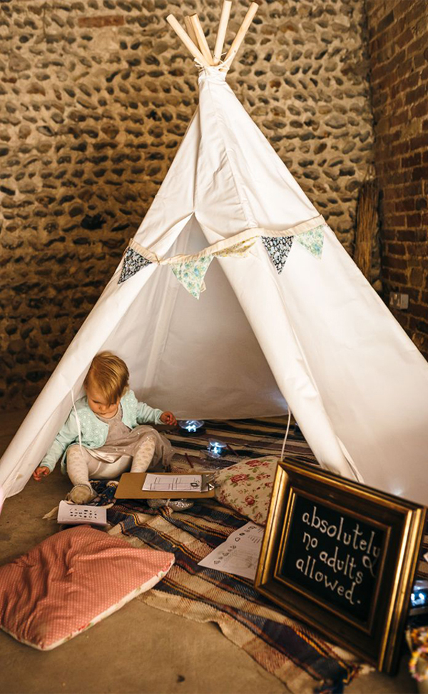 Kids Wedding Entertainment - Kids Only Teepee