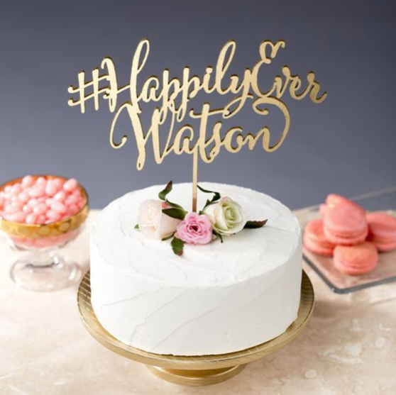 Wedding Hashtag Cake Topper