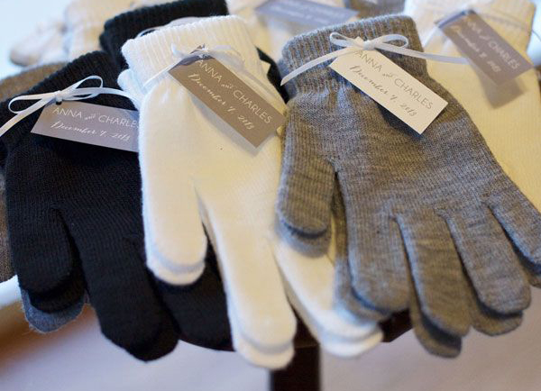 Winter Wedding Favors - Assorted Gloves