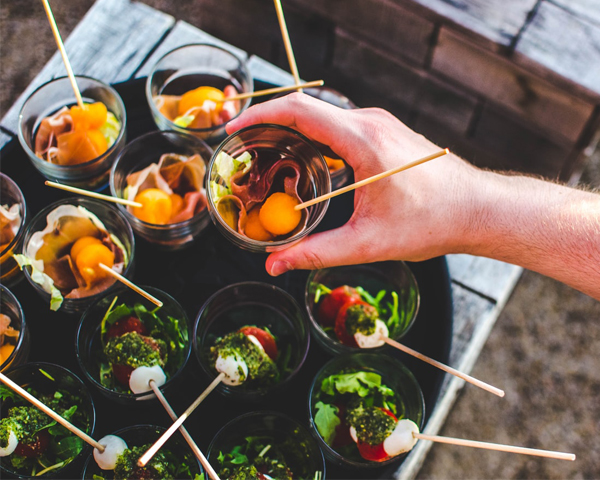 Event Catering Los Angeles - Shot Glass Hors D'oeuvres