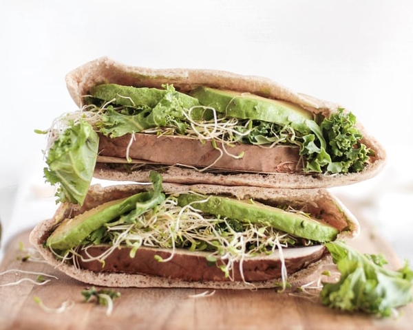 Event Catering Los Angeles - Vegan Pitas With Sprouts And Avocado