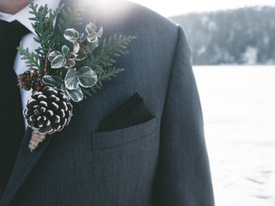 Winter Wedding Suit And Boutonniere